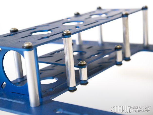 BlueDot四轴飞行器框架 3D模型  图7