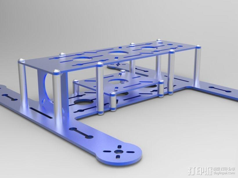 BlueDot四轴飞行器框架 3D模型  图9