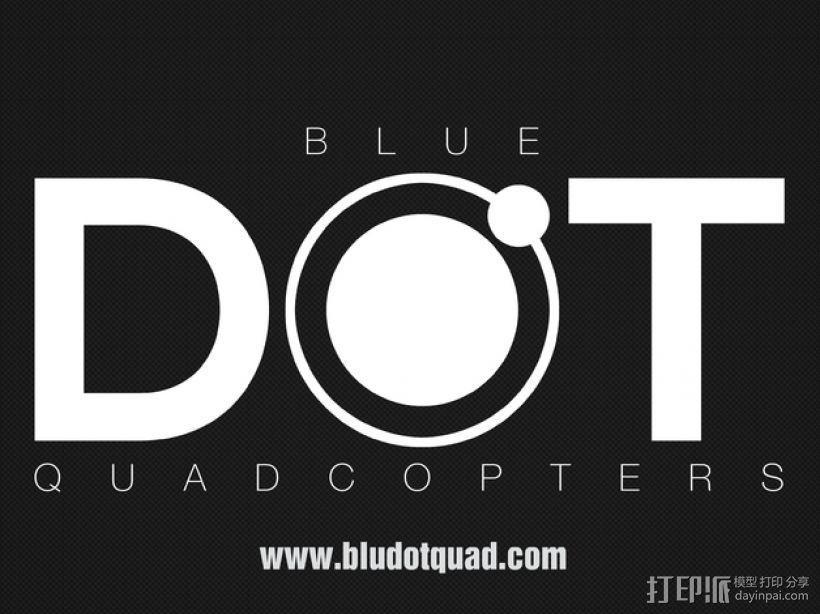 BlueDot四轴飞行器框架 3D模型  图10