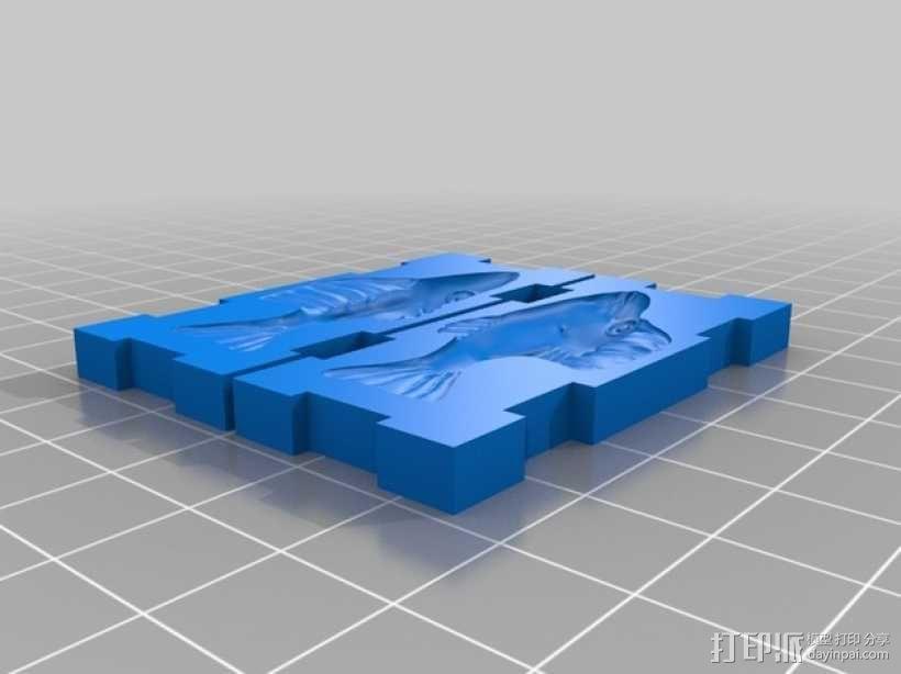 鲦鱼 鱼饵 模具 3D模型  图1
