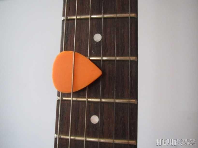 吉他拨片  3D模型  图1