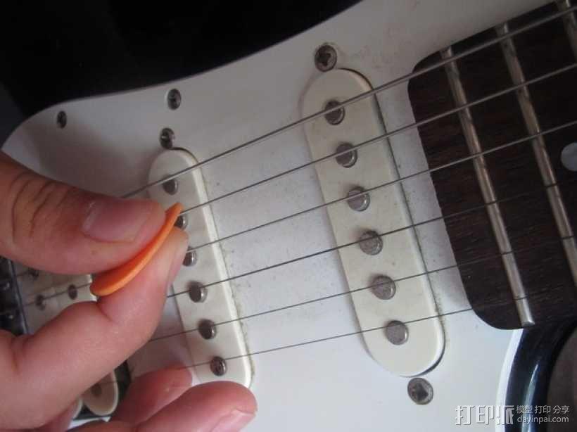 吉他拨片  3D模型  图4
