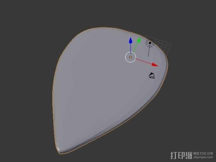 吉他拨片  3D模型  图5