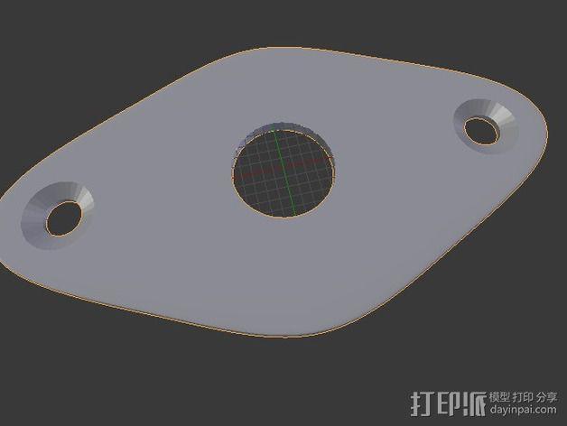 电吉他 插板 3D模型  图4
