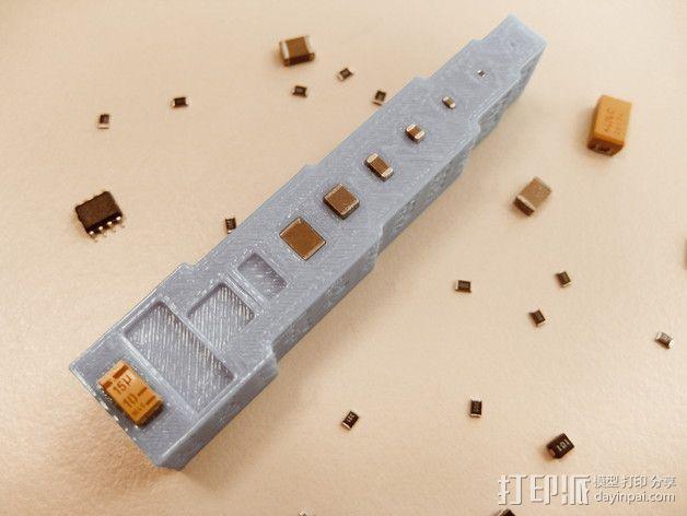 装器件PCB组装成型板 3D模型  图2