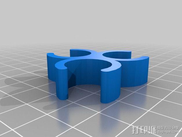 相机三脚架夹 3D模型  图2