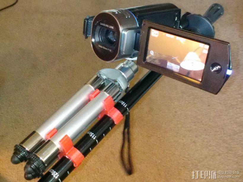相机三脚架夹 3D模型  图1