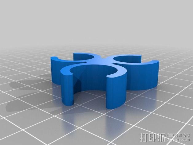 相机三脚架夹 3D模型  图3