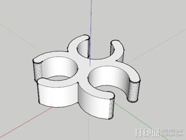 相机三脚架夹 3D模型  图4