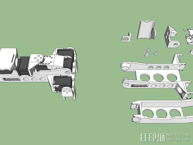 机械手臂 3D模型  图4