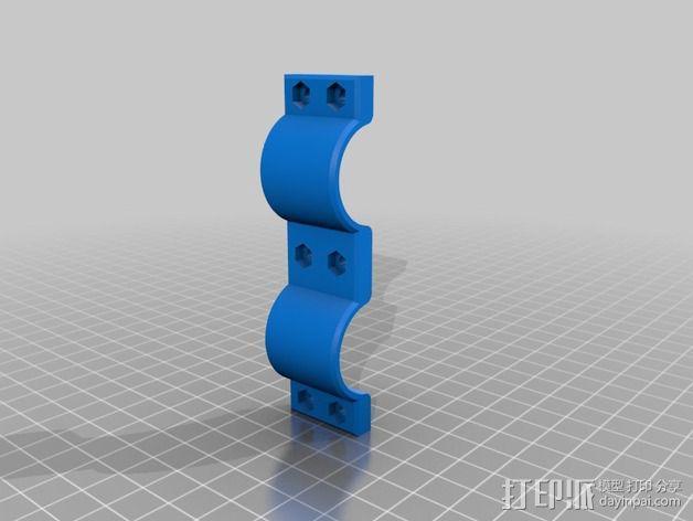 手电筒固定夹 3D模型  图2