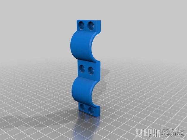 手电筒固定夹 3D模型  图3