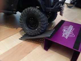 Axial SCX10遥控攀爬车 砂质轨道 3D模型
