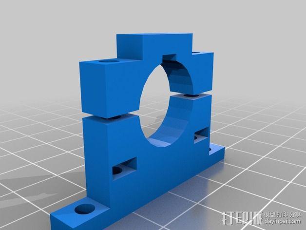航拍飞行器相机架 3D模型  图2
