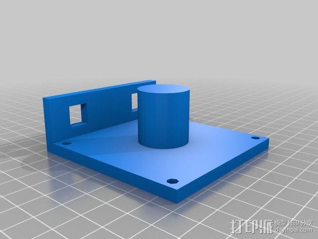迷你焊料卷轴架 3D模型  图3