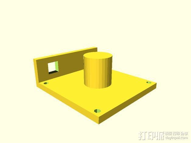 迷你焊料卷轴架 3D模型  图2