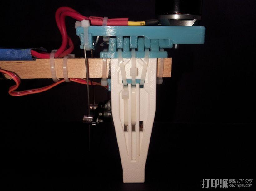三轴飞行器尾轴系统 3D模型  图1