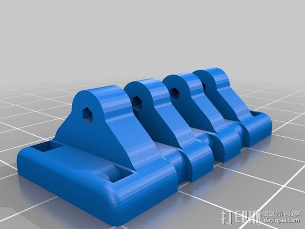 三轴飞行器尾轴系统 3D模型  图5