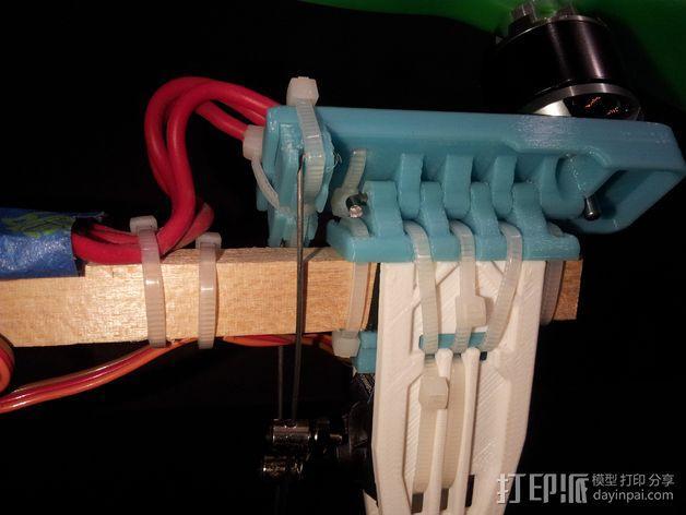 三轴飞行器尾轴系统 3D模型  图3