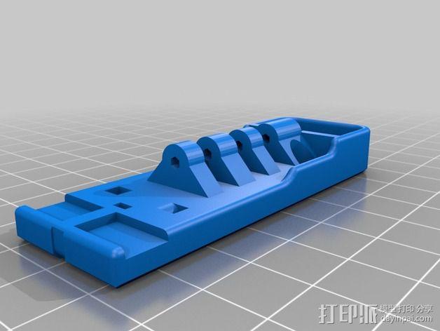三轴飞行器尾轴系统 3D模型  图4