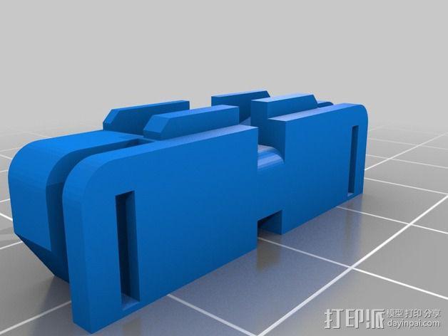 三轴飞行器尾轴系统 3D模型  图6