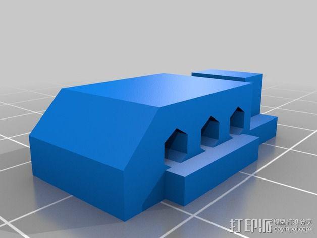 三轴飞行器尾轴系统 3D模型  图7