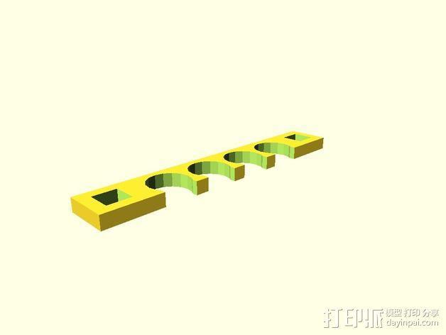 定制化线缆夹 3D模型  图2