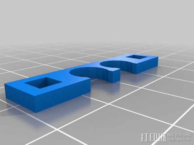 定制化线缆夹 3D模型  图3