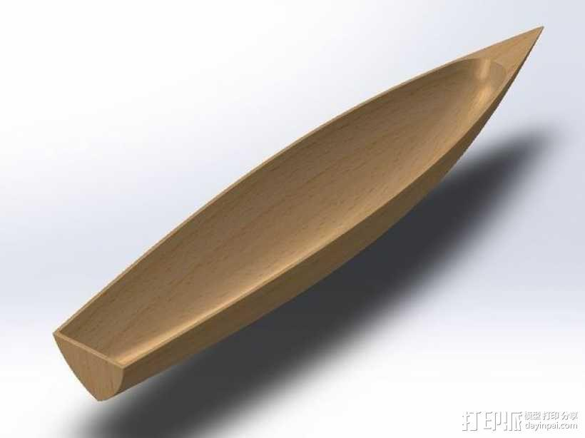 小船/扁舟 3D模型  图1