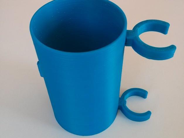 滑板车 水瓶架 3D模型  图3