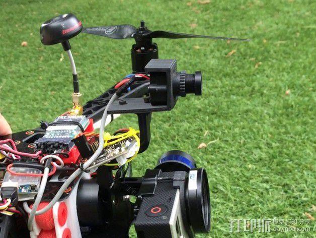 Tarot T-2D多轴飞行器 Fat Shark 600TVL相机架 3D模型  图1