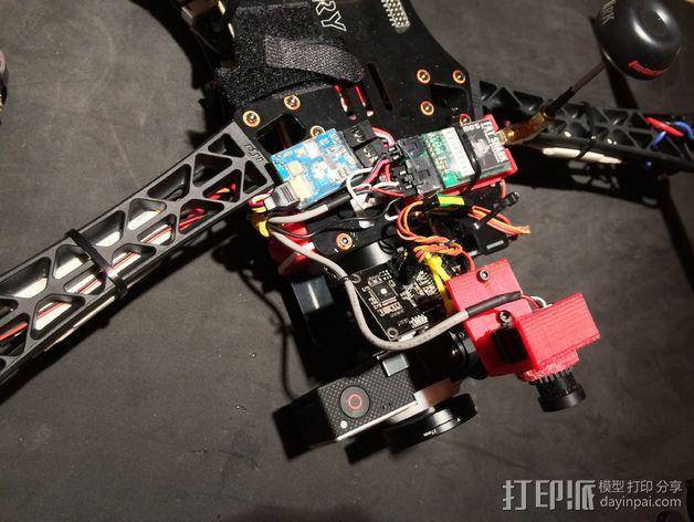 Tarot T-2D多轴飞行器 Fat Shark 600TVL相机架 3D模型  图2