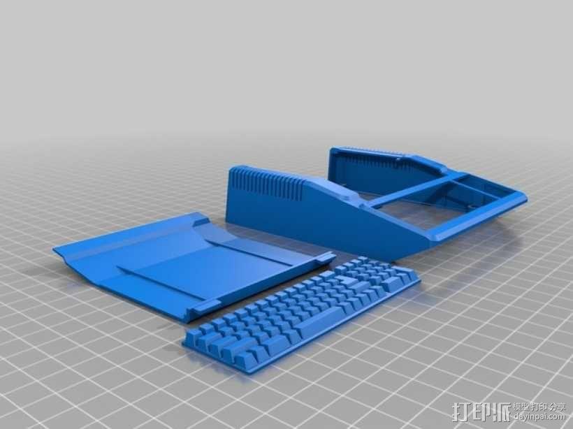 树莓派主板保护壳 3D模型  图2