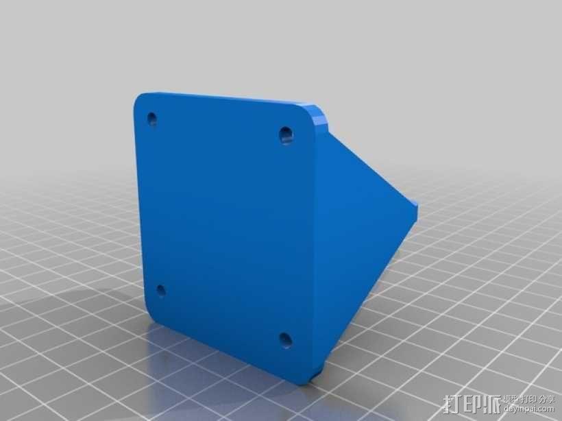 Outrunner长腿机器人 马达支架 3D模型  图2