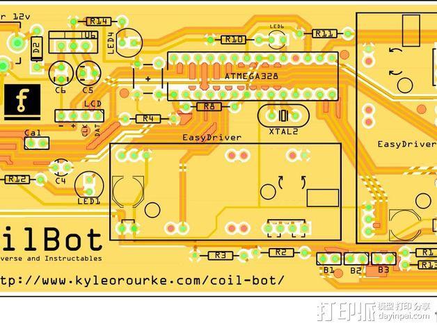 CoilBot智能卷线机 3D模型  图2