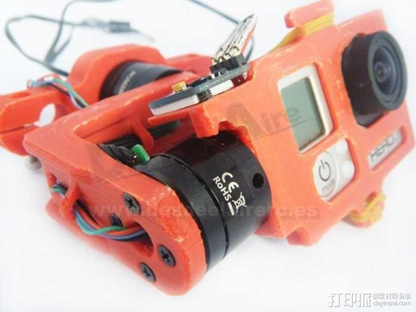 GoPro相机常平架 3D模型  图1