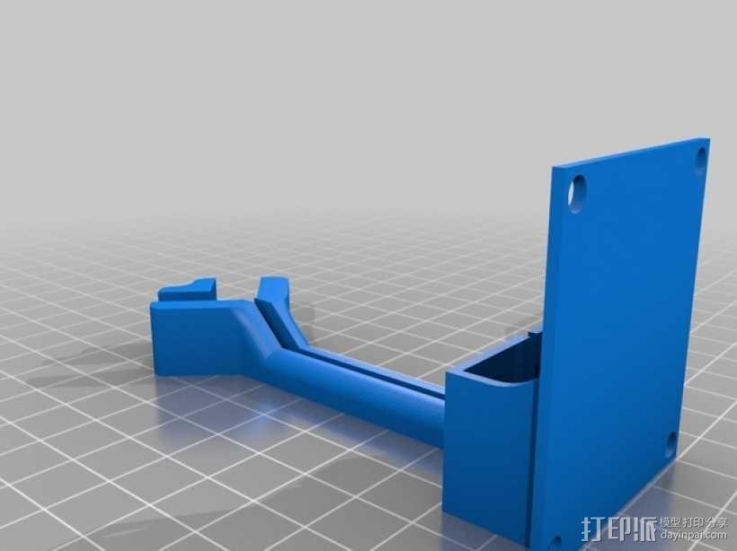 Frsky X8R接收机支架 3D模型  图2