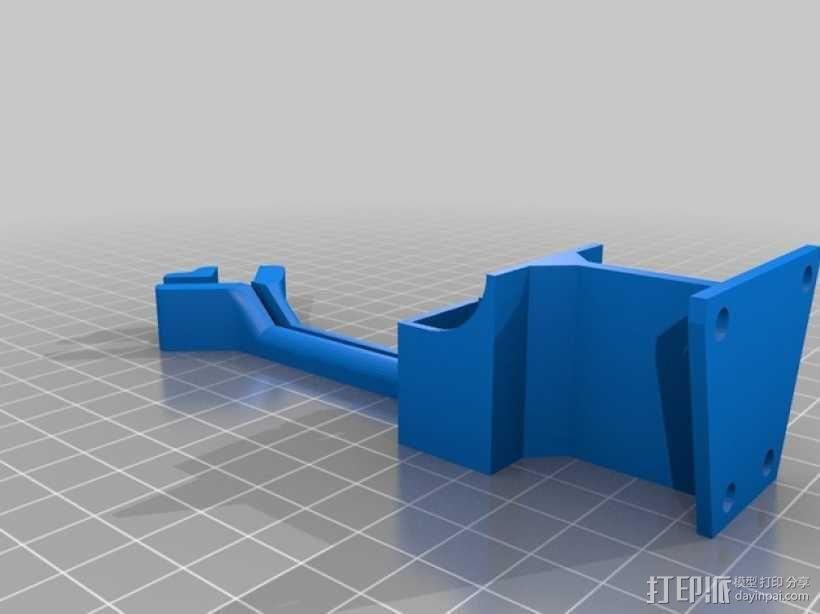 Frsky X8R接收机支架 3D模型  图3
