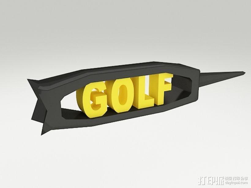 高尔夫球钉 3D模型  图1