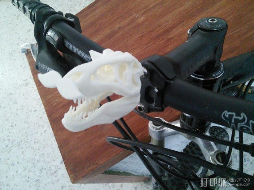 恐龙头骨 自行车车头装饰品 3D模型  图1