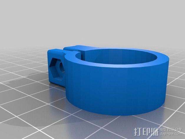 恐龙头骨 自行车车头装饰品 3D模型  图3