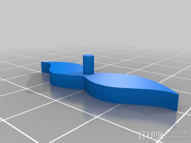 恐龙头骨 自行车车头装饰品 3D模型  图5