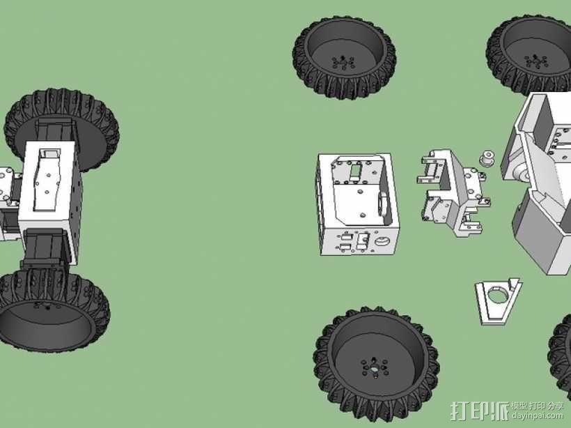 六轮驱动机器人 3D模型  图3