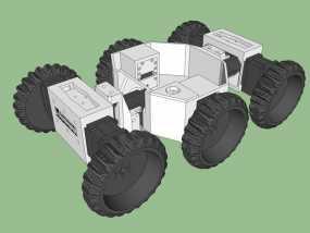 六轮驱动机器人 3D模型