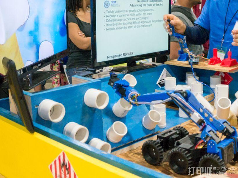 六轮驱动机器人 3D模型  图2