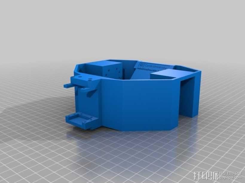 六轮驱动机器人 3D模型  图5