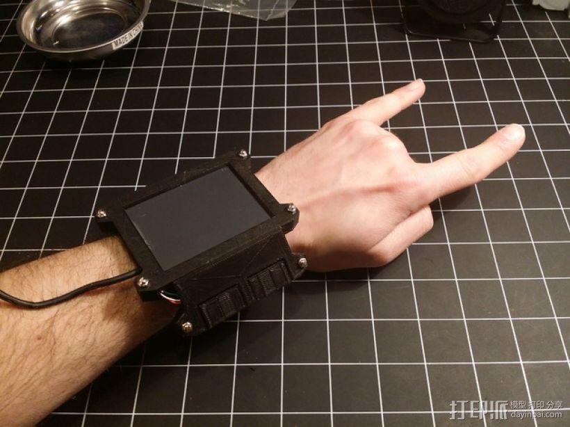 数字朋克触控板带 3D模型  图1