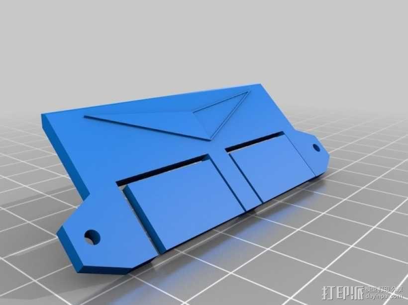 数字朋克触控板带 3D模型  图2