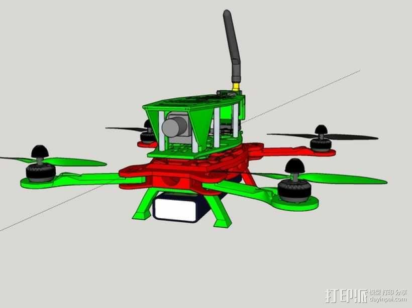 MHQ四轴飞行器框架 3D模型  图1
