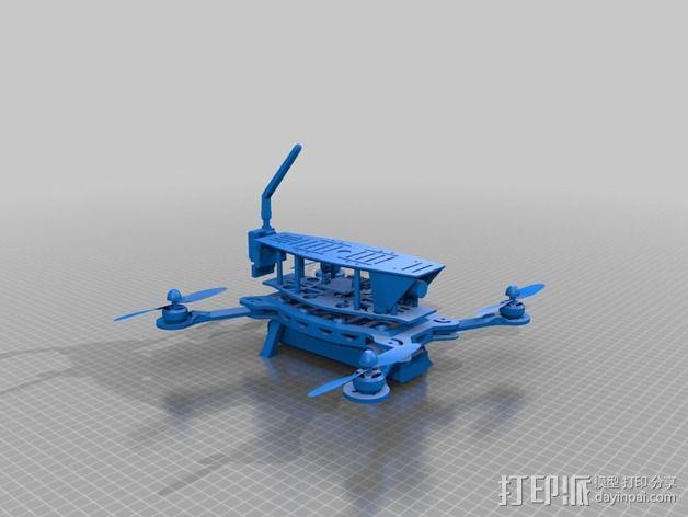 MHQ四轴飞行器框架 3D模型  图2